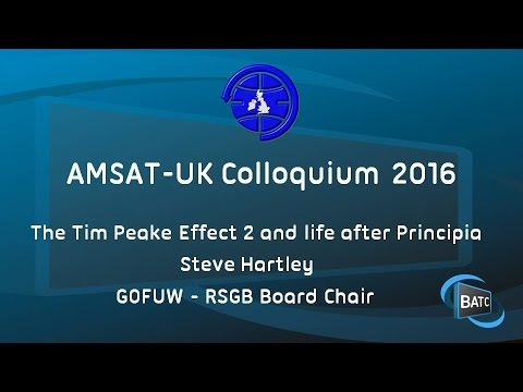 The Tim Peake Effect 2 and life after Principia - Steve Hartley G0FUW - RSGB Board Chair