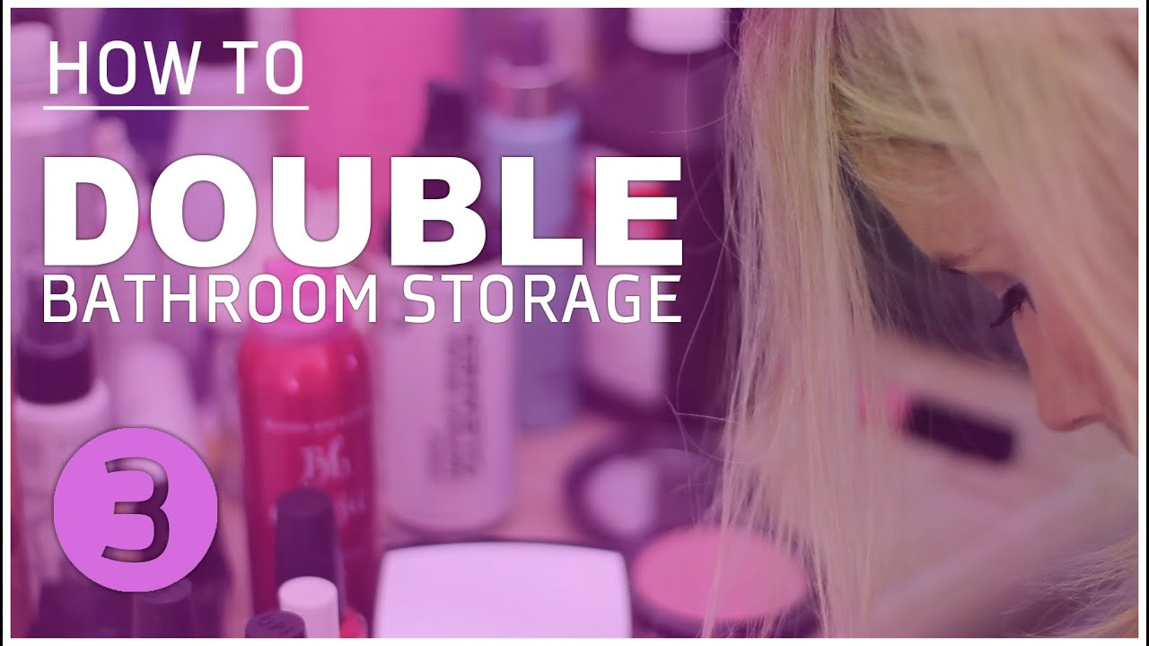 How To Diy Bathroom Makeover 3 Organize Hair Makeup Products Youtube