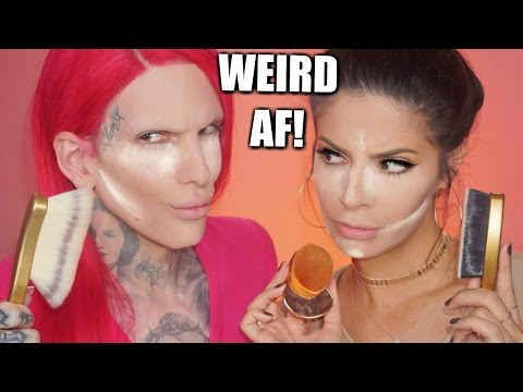 Thumbnail: WORLDS WEIRDEST FOUNDATION BRUSHES | HIT OR MISS? FEAT: JEFFREE STAR