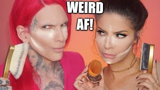 WORLDS WEIRDEST FOUNDATION BRUSHES | HIT OR MISS? FEAT: JEFFREE STAR