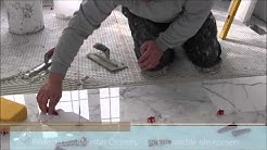 "12""x24"" (30x60) marble tile installation using Perfect Level Master™ T-Lock­™"