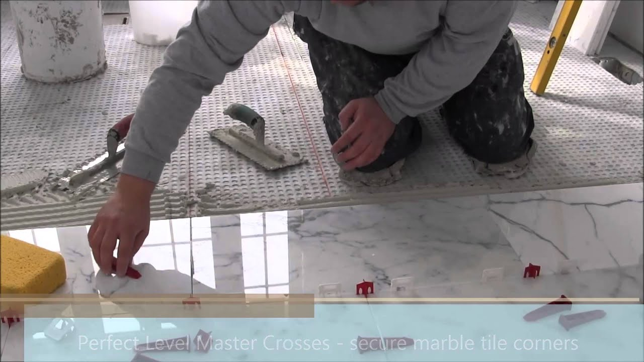 12 x24 30x60 marble tile installation using perfect level master t lock