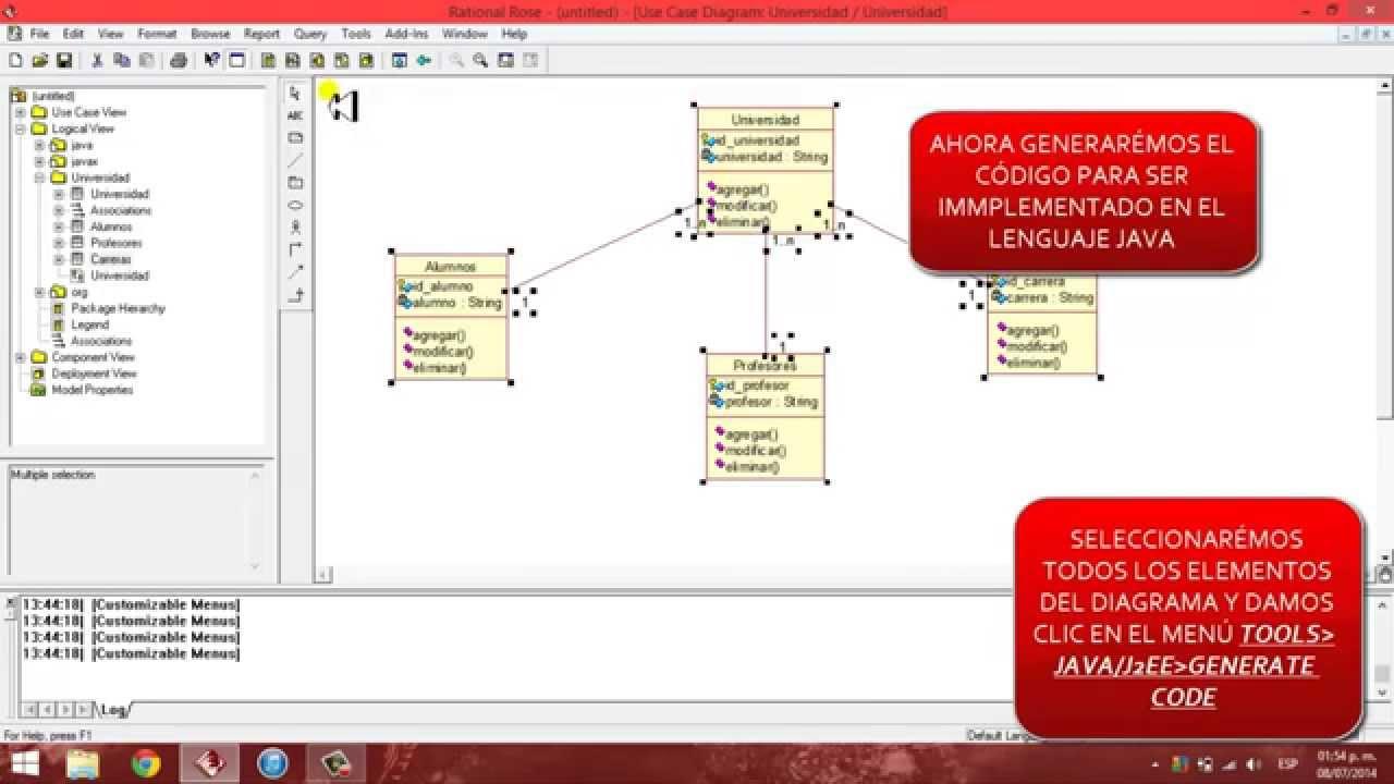 Diagrama De Clase Y Generar C U00f3digo En Ibm Rational Rose