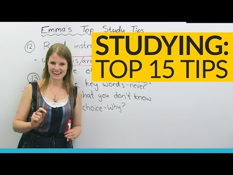 Emma's TOP 15 STUDY TIPS