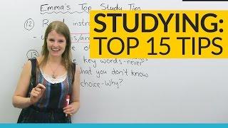 Emma's TOP 15 STUDY TIPS