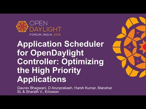 Application Scheduler for OpenDaylight Controller: Optimizing the High Priority Applications