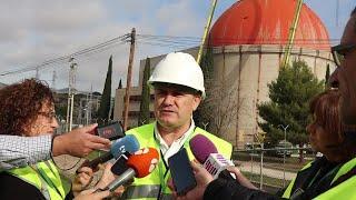 Manuel Ondaro hablando sobre el desmantelamiento de la central nuclear de Zorita