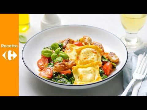salade-de-pâtes-à-la-chipolata-et-au-pesto