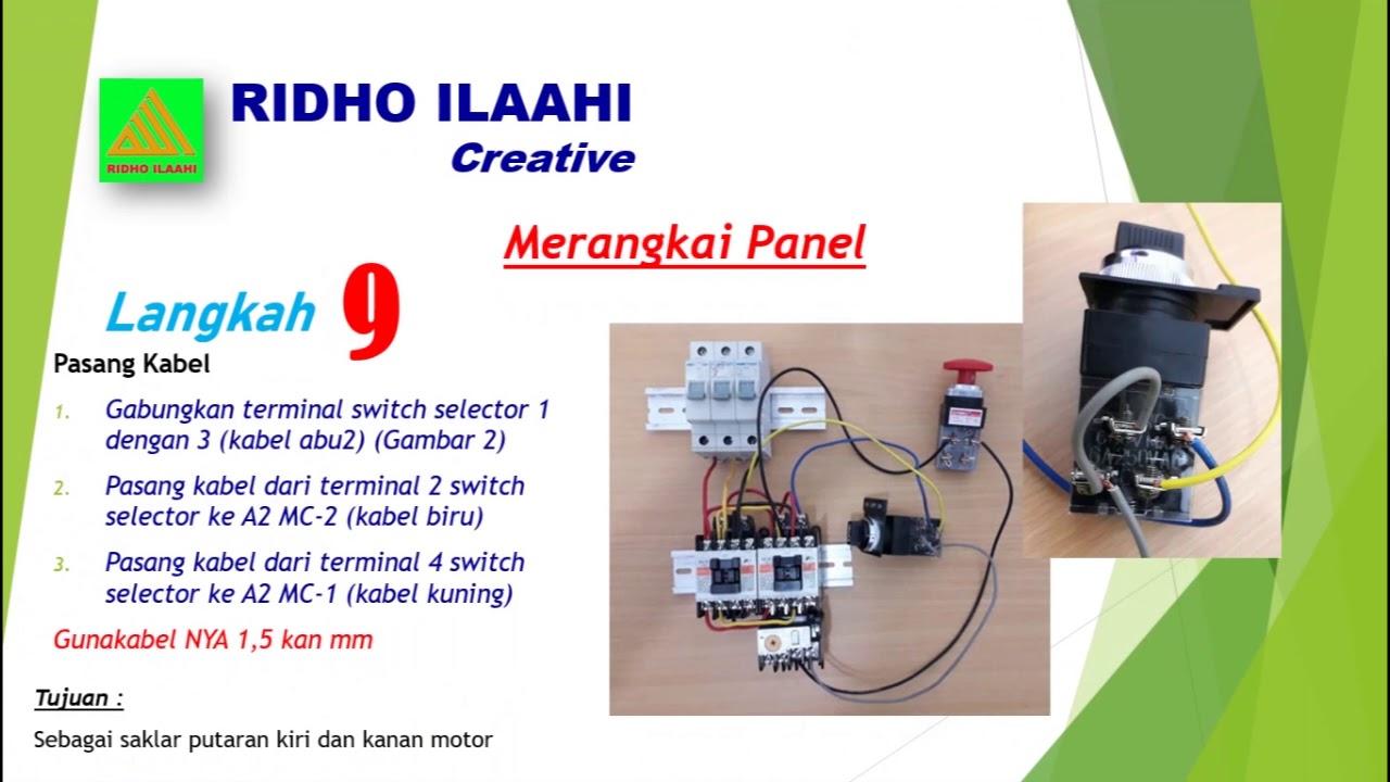 Tutotial Panduan Pembuatan Panel Listrik 2 Contactor 1
