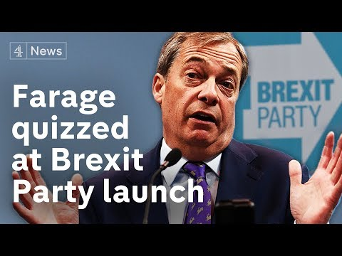 Nigel Farage launches 'The Brexit Party' ahead of EU elections