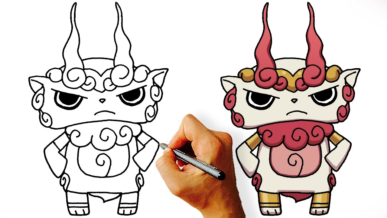 Souvent How to Draw Komashura (Yo Kai Watch Characters) Step by Step - YouTube NJ16