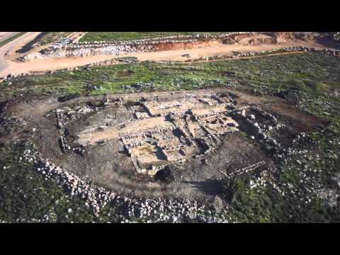 Aerial view of monastery found in central Israel (Griffin Aerial Imaging)