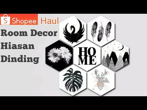 shopee haul hiasan dinding kamar    aesthetic real picture