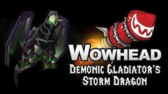 Demonic Gladiator's Storm Dragon