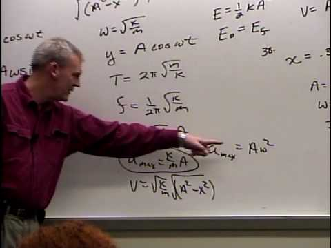 Physics 210 - Lecture 26 - Simple Harmonic Motion - Final Lecture