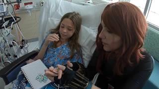 Super visit at the Golisano Children's Hospital of Fort Myers, Florida
