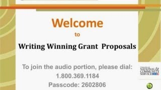 Writing Winning Grants and Proposals