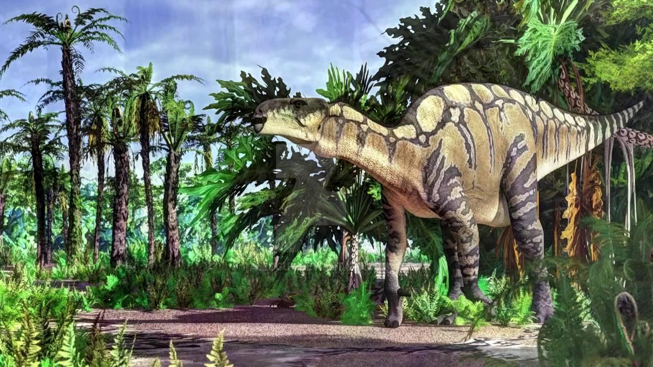 Iguanodonte (Iguanodon) - YouTube