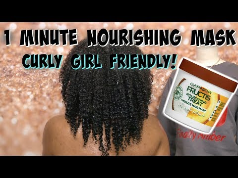 FIRST IMPRESSIONS OF THE NEW GARNIER FRUCTIS 1 MINUTE REPAIR MASK ON KINKY CURLY HAIR