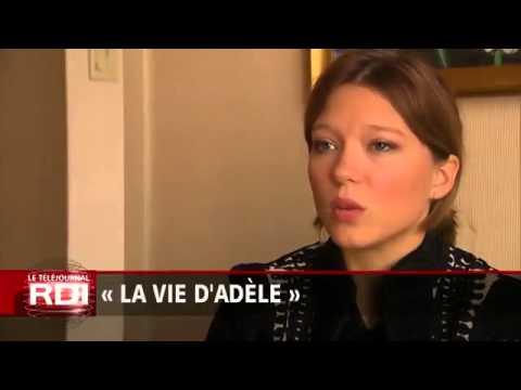 Léa Seydoux,  Adèle Exarchopoulos, and Abdellatif Kechiche Interview  «RDI»