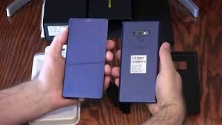 Розпакування смартфона SAMSUNG Galaxy Note 9.