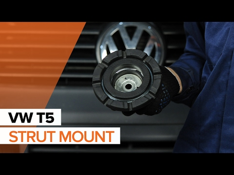 How to replace Front Strut Mount on VOLKSWAGEN T5 TUTORIAL | AUTODOC