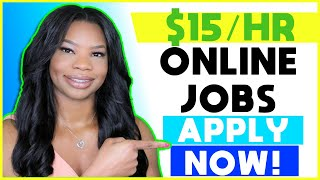 🏡 $15 HOURLY Work-From-Home Jobs! (Night Hours + Weekend Hours) | Apply NOW!!