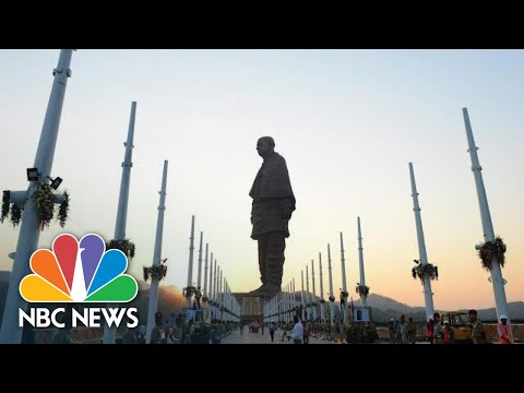 World's Tallest Statue Cost $420 Million, Tivals The Space Needle | NBC News