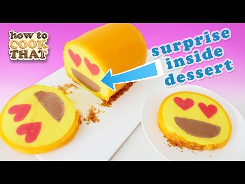 SURPRISE INSIDE EMOJI DESSERT How To Cook That Ann Reardon