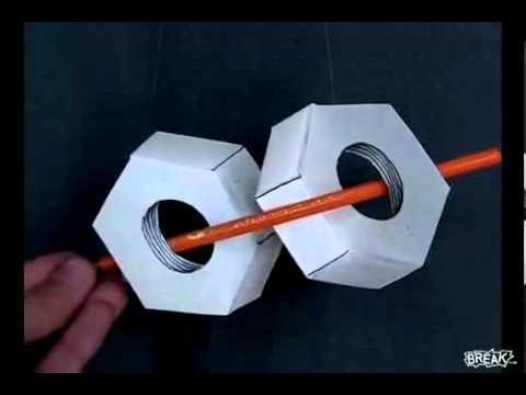 Оптическая иллюзия с гайками