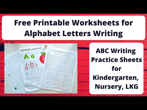 Free Printable Worksheets For Alphabet Writing Practice | Letter Writing Worksheets For 3-5 Years