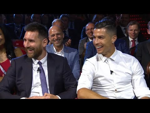 FULL CEREMONY - Cristiano Ronaldo And Lionel Messi | UCL GROUP STAGE DRAW