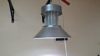 Ремонт светодиодного светильника Колокол 150Вт с применением чипов 50Вт на 220 вольт