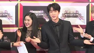 Irene can't help to laugh because of Jin[worldwide handsome],Visual couple  [KBS gayo daejun 2017]