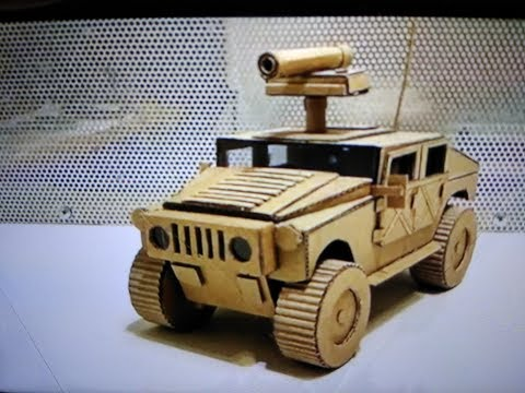 How to make hummer H1 from cardboard /HMMWV/humvee/amazing toy DIY