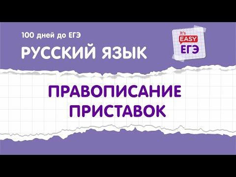 ЕГЭ по русскому языку. Приставки