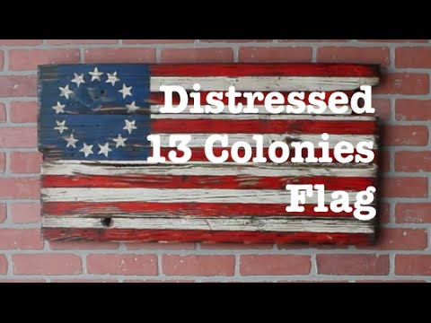 Distressed 13 Colonies Flag | How-to