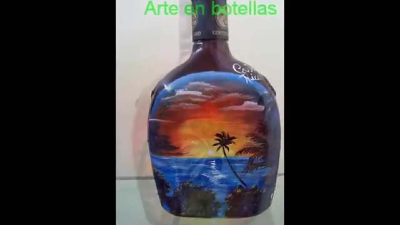 Paisajes en botellas 01 youtube - Como decorar botellas de vidrio ...