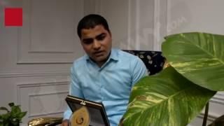 بالفيديو.. أول العالم يتلو القرآن في حفل تكريمه من محافظ البحيرة
