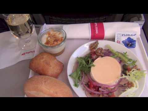 """LX SWISS AIRLINES: NEW EUROPE Business Class Flight Drink & Food """"Made of Switzerland"""" Star Alliance"""