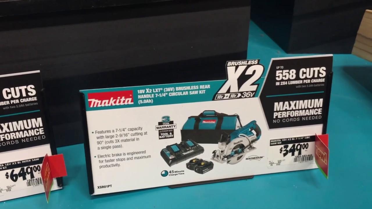 New Makita 36V Tools Display & Deal at Home Depot (November 2017)