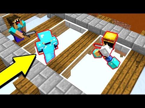 INVISIBLE MINECRAFT GLASS TRAP! (Minecraft Trolling)