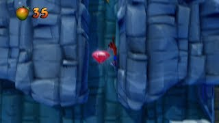 Crash Bandicoot 2 HD - Air Crash / Snow Go Walkthrough - RED GEM LOCATION