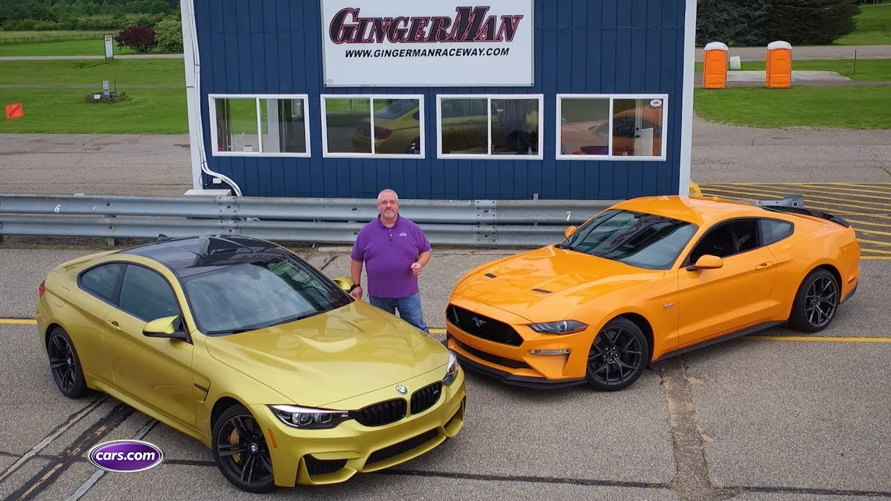 2018 bmw m4 vs 2018 ford mustang gt pp2 cars com