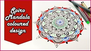 Spirograph & Mandala Coloured Drawing | Speed Drawing