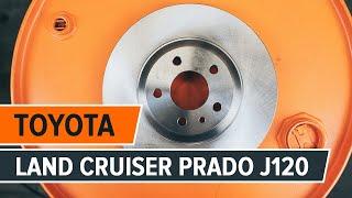 Kā nomainīt TOYOTA LAND CRUISER PRADO J120 priekšējie bremžu diski un bremžu kluči