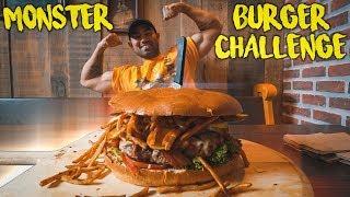 "Monster ""SPANK ME BURGER"" Challenge!"