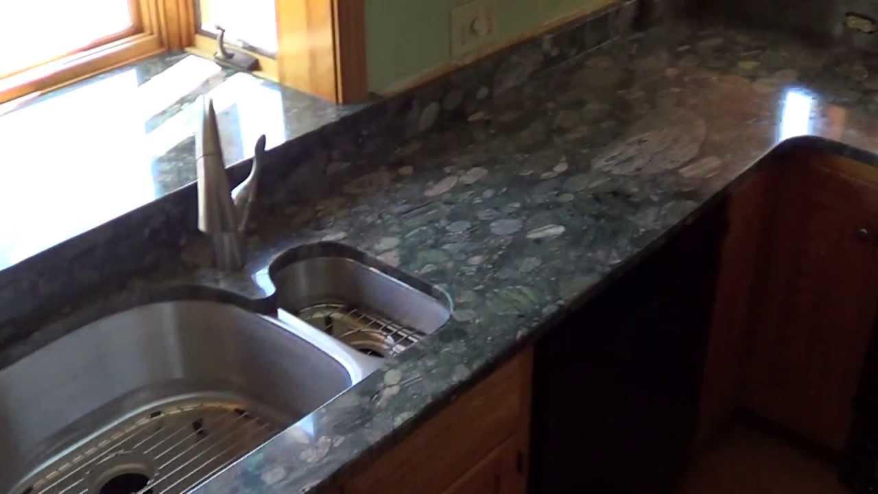 Verde Marinace Granite Countertop Installed