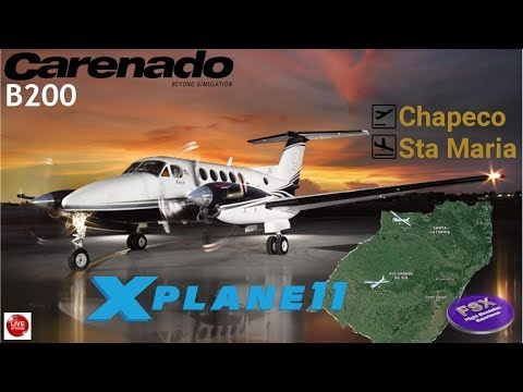 [**XPLANE11**] Tour Beechcraft King Air B200 | Chapeco ✈ Santa Maria (parte 2)