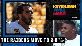 Derek Carr 'has always been fire to me' 🔥🔥 Keyshawn reacts to the Raiders beating the Steelers | KJM